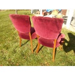 Image of French Fireside Dining Chairs - A Pair