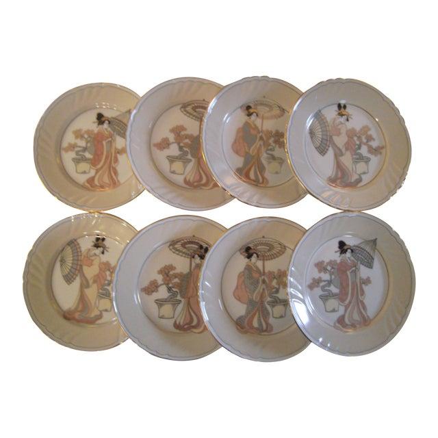 Vintage Fitz & Floyd Plates - Set of 8 - Image 1 of 8