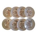 Image of Vintage Fitz & Floyd Plates - Set of 8
