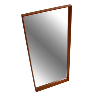 Danish Modern Thin-Edge Teak Mirror