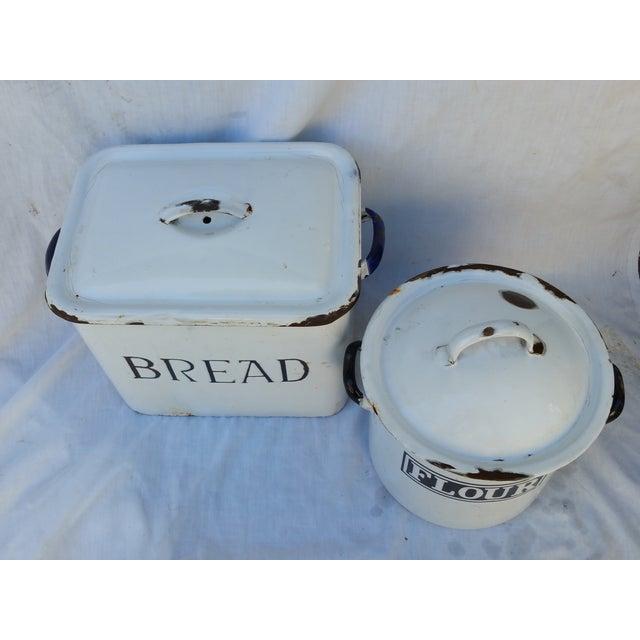 1930's English Enamel Bread Bin - Image 5 of 6