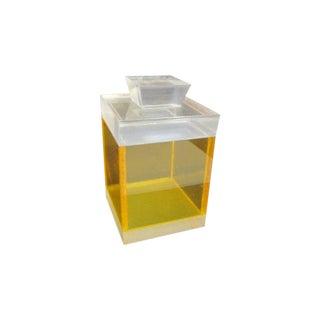 Alessandro Albrizzi Lucite Yellow Box