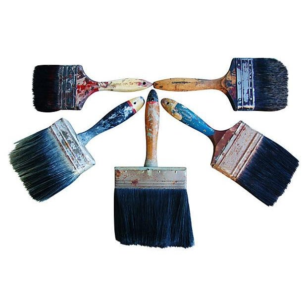 Image of Vintage House Painter Brush Collection - Set of 5