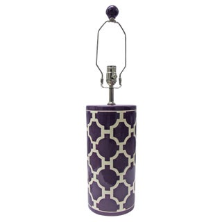 Jill Rosenwald Hampton Links Table Lamp in Purple