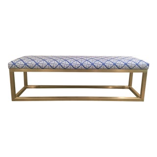 Taylor Burke Home Brass Kelly Bench