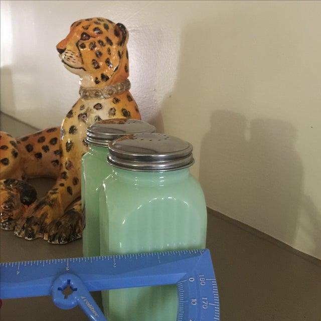 Art Deco Jadeite Salt and Pepper Shaker Set - Image 10 of 10