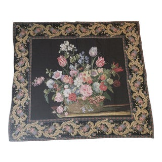 Belgian Floral Wall Tapestry