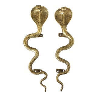 "12"" Solid Brass Cobra Door Pulls - A Pair"