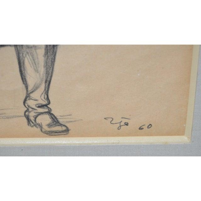 Francisco Zuniga (1912-1998) Original Pen & Ink - Image 5 of 7