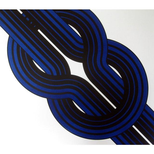Image of Mid-Century Serigraph Art 1973 - Blue Knot