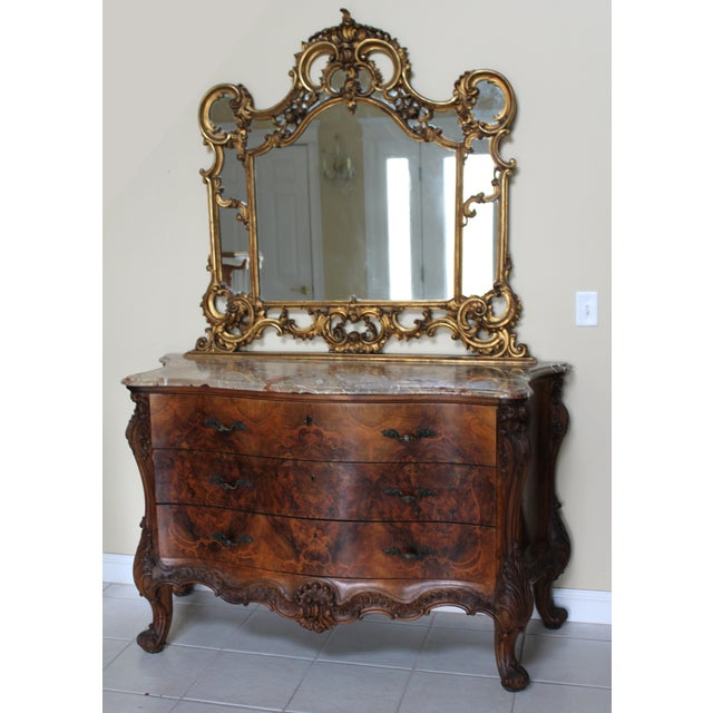 Antique Italian Marble Top Dresser With Mirror Chairish