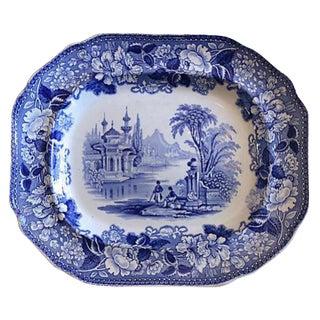 """Antique English Transferware """"Bosphorus"""" Platter"""