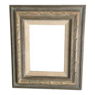 Washed Wood & Linen Frame