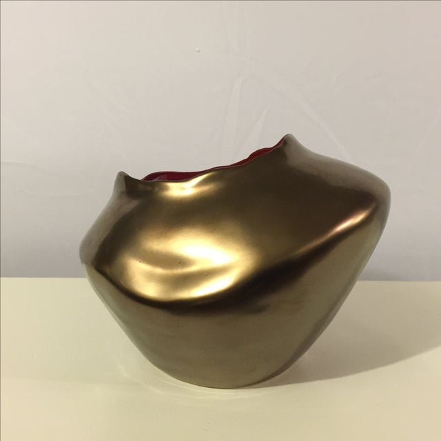 Image of Modern Bronze Ceramic Vase