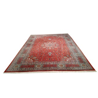 Persian Tabriz Hand Knotted Rug - 7′10″ × 11′4″