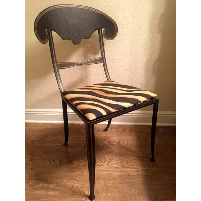 Designer Metal Accent Chair - Image 2 of 11
