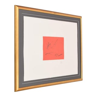 Limited Edition Signed Robert Motherwell Lithograph