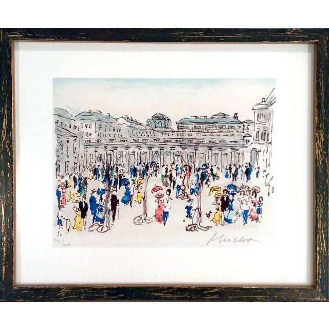 "Urbain Hutchet ""Paris, Palais Royal Ii"" Lithograph - Image 1 of 7"