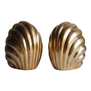 Mid-Century Sculptural Brass Bookends