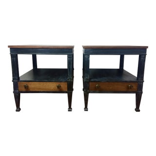 Vintage Drexel End Tables or Night Stands Solid Wood -- A Pair