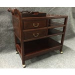 Image of Vintage Rosewood Asian Tea Drink Cart