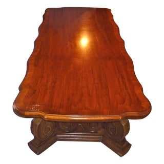 1970s Vintage the Reserve Curved Coffee Table Solid Wood