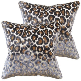Kravet Couture Velvet Cheetah Pillows - A Pair