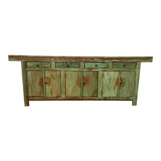 Antique Vintage Reclaimed Solid Wood Antique Buffet Credenza
