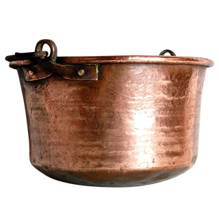 Antique Copper Cauldron Kettle