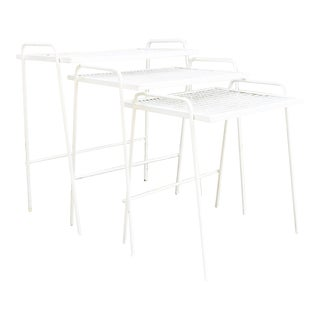 Mid-Century Outdoor Nesting Tables - Set of 3