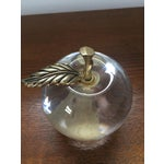 Image of Vintage Glass Apple Paperweight