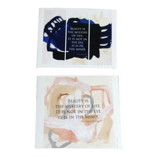 Beauty Quote Engravings - A Pair