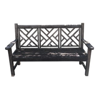 County Casual Solid Teak Bench