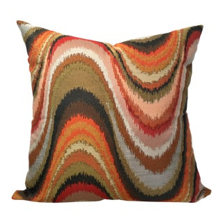 Multicolor Marble Motif Designer Pillow