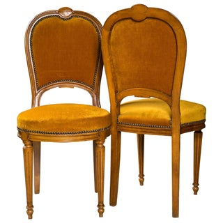 Jansen Louis XVI Style Dining Chairs - Pair