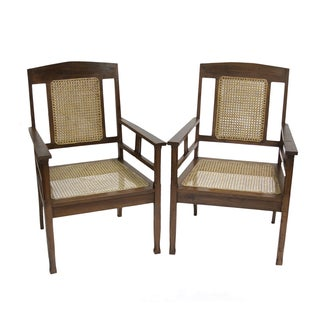 British Colonial Armchairs - Pair