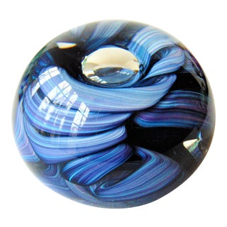 Hand Blown Art Glass Paperweight by Michael Hudson
