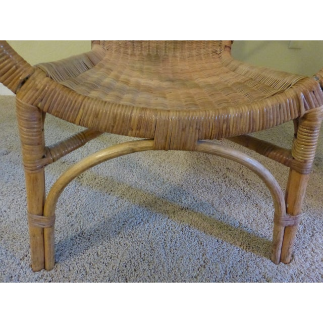 Vintage Rattan & Bamboo Chair - Image 6 of 8