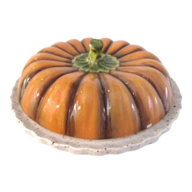Vintage Ceramic Lidded Pumpkin Pie Dish - Image 1 of 7