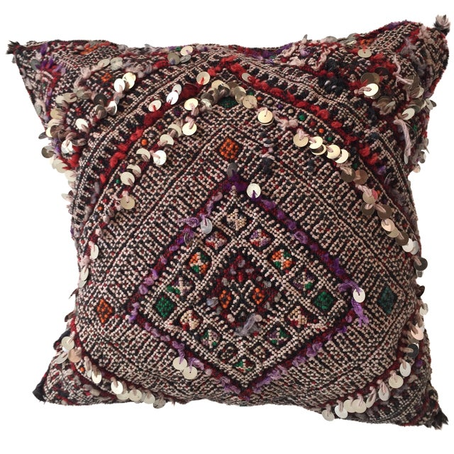 Moroccan Dhurrie Pillow - Image 1 of 8