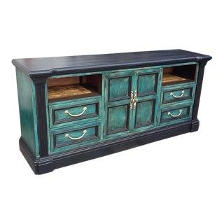 blue credenzas and sideboards vintage used. Black Bedroom Furniture Sets. Home Design Ideas