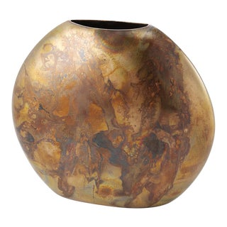 Burnished Copper Round Vase