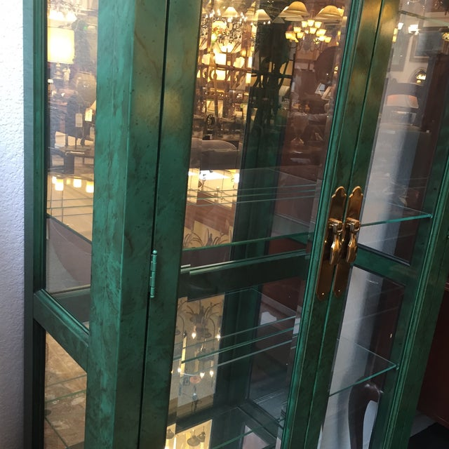 Emerald Curio Cabinet by American of Martinsville - Image 5 of 11