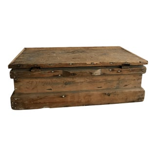 Vintage Distressed Wooden Chest