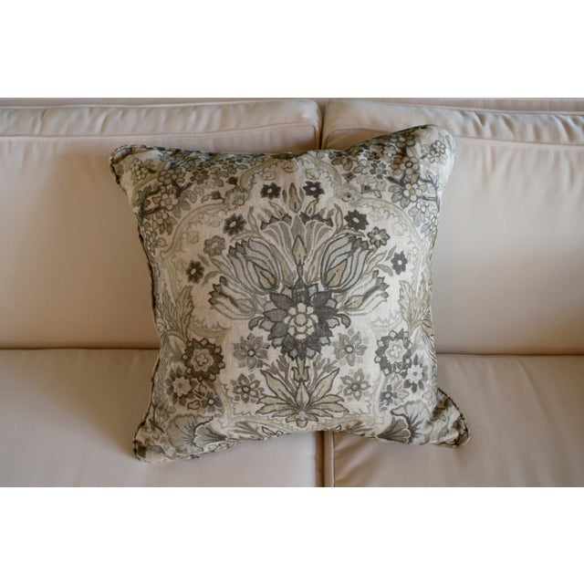Lee Jofa Grey/Bisque Tetbury Pillow Cover - Image 2 of 6