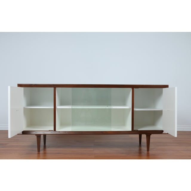 Image of Vintage Modern Credenza with Brass Handle
