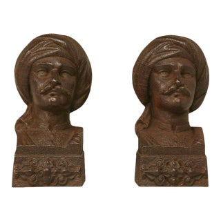 French Figural Bookends, 1880 - A Pair