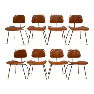 Eames Herman Miller Walnut DCM Dining Chairs- Set of 8