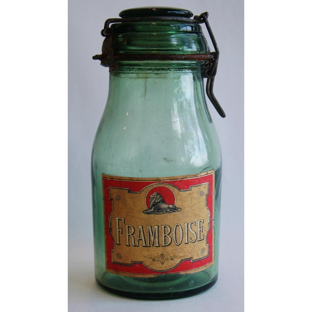 1930s French Canning Preserve Jars w/ Labels & Lids - Set of 3 - Image 7 of 8