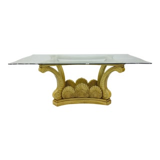Vintage Hollywood Regency Clam Shell Table